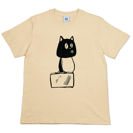〔予約販売2021年10月下旬〜11月上旬発送予定〕河童の三平 カバン持ちタヌキ T-Shirts(巾着袋付) Color  オレンジクリーム