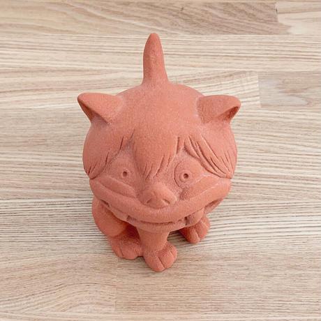 〔予約販売2021年3月下旬〜4月下旬発送予定〕ゲゲゲの鬼太郎 沖縄のシーサー(口を閉じVer)沖縄伝統的技法陶器