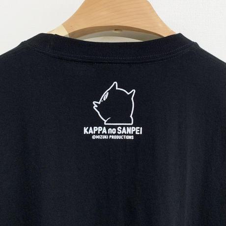 〔予約販売2021年10月下旬〜11月上旬発送予定〕河童の三平 おいくえよ ロングスリーブ T-Shirts Color  ブラック