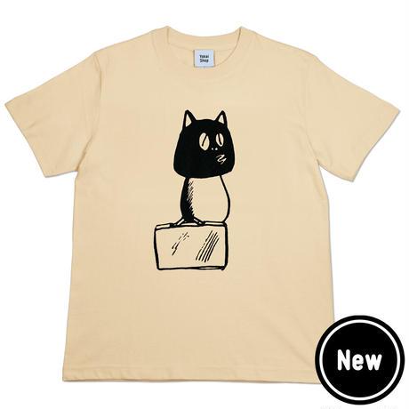 〔予約販売2021年6月下旬〜7月上旬発送予定〕河童の三平 カバン持ちタヌキ T-Shirts(巾着袋付) Color  オレンジクリーム