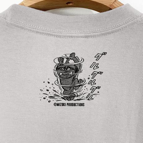 〔予約販売2021年5月下旬〜6月上旬発送予定〕ゲゲゲの鬼太郎 沖縄のシーサー T-Shirts Color  ライトグレー