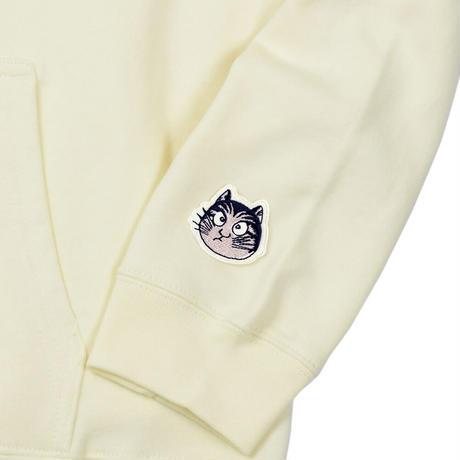 〔予約販売2021年10月下旬〜11月上旬発送予定〕猫楠パーカー Color ナチュラル