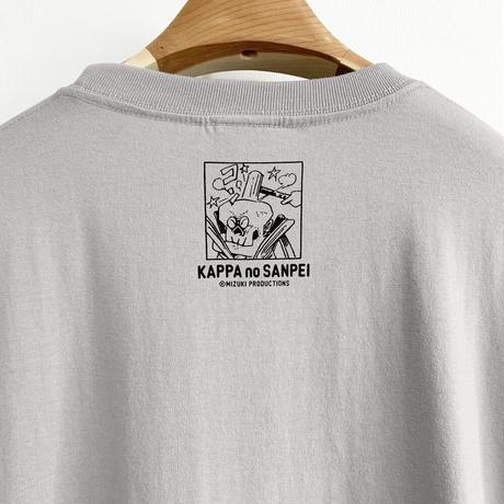 〔予約販売2021年10月下旬〜11月上旬発送予定〕河童の三平 金づちたぬき T-Shirts  Color  ライトグレー