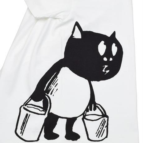 [予約販売]河童の三平 バケツ持ちたぬき T-Shirts(特製タグ付) Color ホワイト