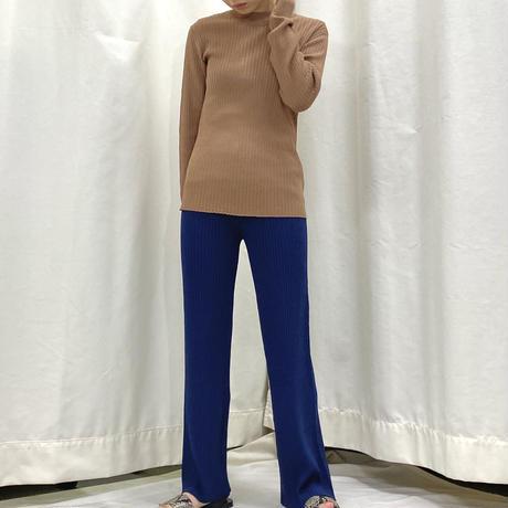Rib knit wide pants  [2611829]