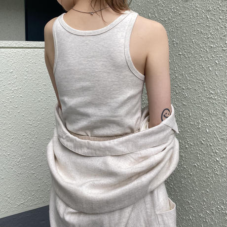 Cotton smooth tank top [0101102]