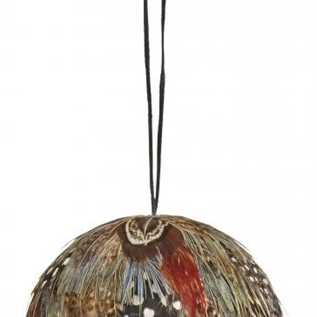 ≪nd-fthr-hngbl-mlt≫ Nordal Feather hanging ball 9㎝ / multi