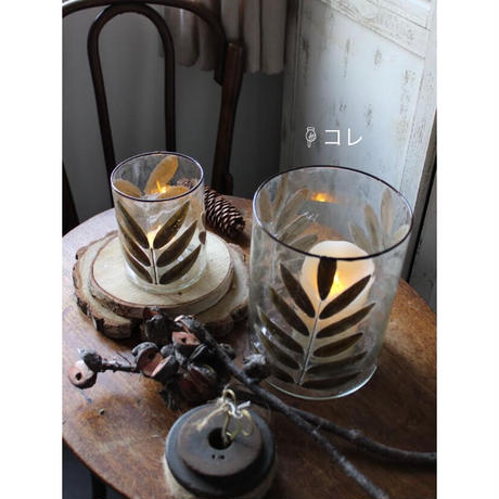 ≪nd-lv-gl-v-l≫ Nordal LEAVES, glass vase/t-light holder L