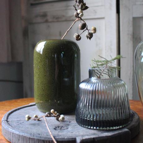 ≪blmv-pcr-v-dg≫ Bloomingville  flower vase H15cm / dark green