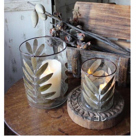 ≪nd-lv-gl-v-s≫ Nordal LEAVES, glass vase/t-light holder S