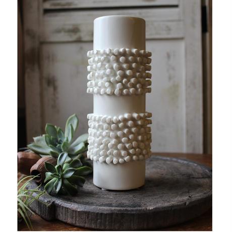 ≪blmv-sv-wh 2≫ Bloomingville  stone  vase white2