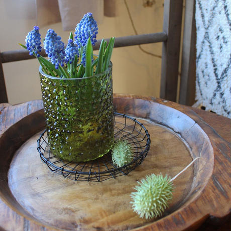 ≪blmv-gl-gr≫Bloomingville BoHo Glass Vase H12.5cm