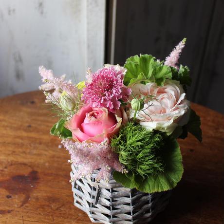 【全国有料配送】『5/14~31着 母の日ゆっくりお届け便3000 』フラワーアレンジメント/ピンク系