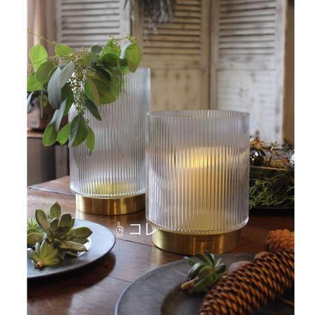 ≪nd-brs-v-l≫ Nordal  RING vase w/lines, Brass  L