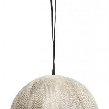 ≪nd-fthr-hngbl-whgy≫ Nordal Feather hanging ball 9㎝ / white & grey