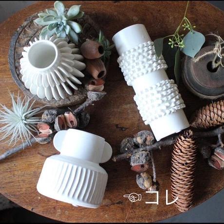 ≪blmv-sv-wh3≫ Bloomingville  stone  vase white 3