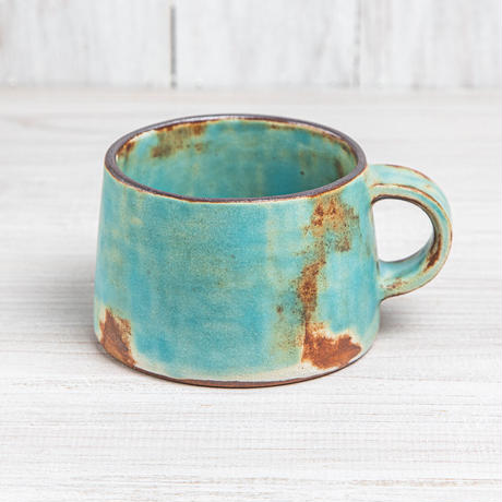 エヴァーソン朋子 陶作品「マグカップ 空色」