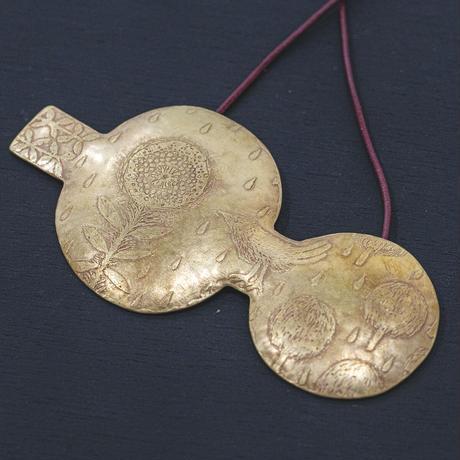 morinosu ペンダント「花と鳥」  P19