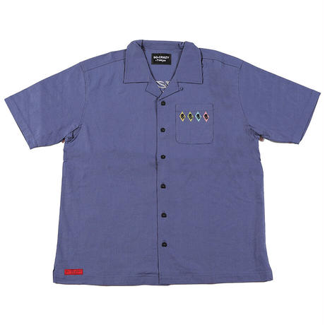 超有名お笑いコンビ「サンドイッチマン」の伊達さんがTVで着用!Smokeロックンロール開衿シャツ(3色)