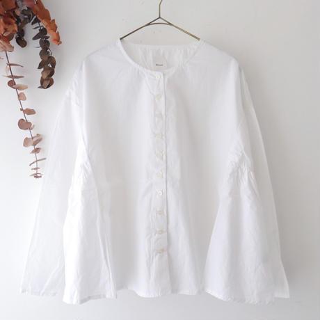 Gauze# ガーゼ | サイドギャザーテントラインシャツ | ホワイト