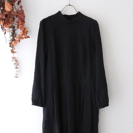 the last flower of the afternoon ザ ラスト フラワー オブ ジ アフタヌーン | かげとひかりのclassic one-piece dress | ブラック