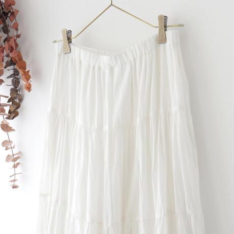 Veritecoeur ヴェリテクール | 切替ギャザースカート | ホワイト