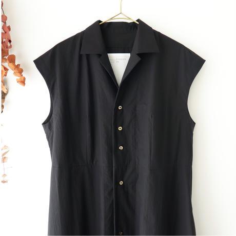 the last flower of the afternoon ザ ラスト フラワー オブ ジ アフタヌーン | 夏夜雨 open-collared dress | ブラック