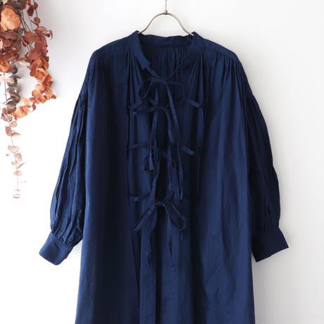 the last flower of the afternoon ザ ラスト フラワー オブ ジ アフタヌーン | 紺青のsmock dress | インディゴ