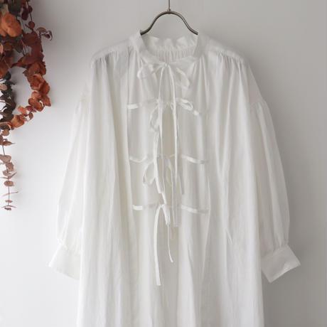 the last flower of the afternoon ザ ラスト フラワー オブ ジ アフタヌーン | 追懐のsmock dress | ホワイト