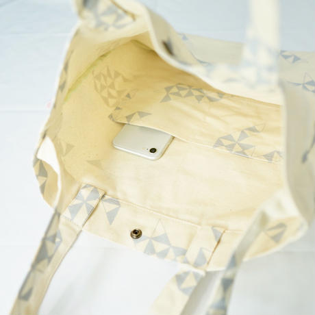 【MIKAMI】2WAYトートバッグ Z116 トライアングルグレー