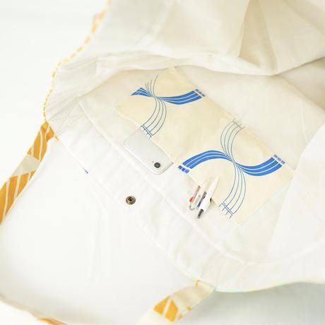 【MIKAMI】帆布パッチワークバッグ Z027 ブルー&イエロー&グリーン