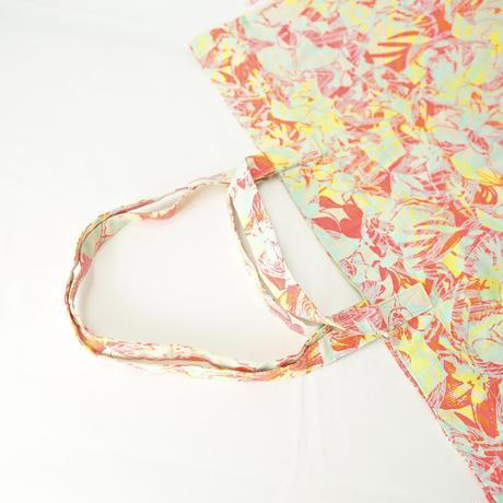 【MIKAMI】帆布ショッピングバッグ Z141 ピンク&イエロー