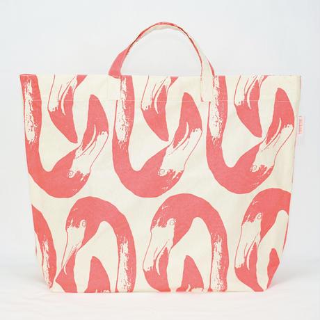 【MIKAMI】帆布ショッピングバッグ Z113 フラミンゴ