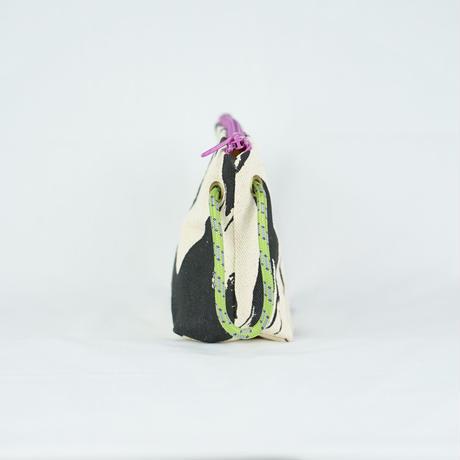【MIKAMI】帆布ポーチ 大 Z127     フラミンゴブラック