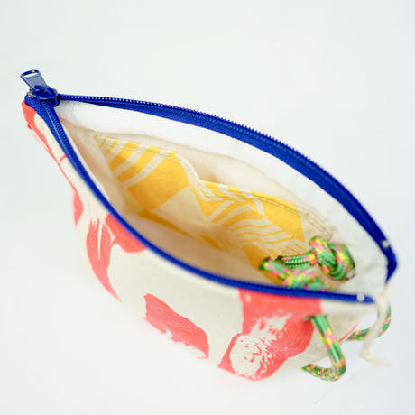【MIKAMI】帆布ポーチ 大 Z055 フラミンゴ
