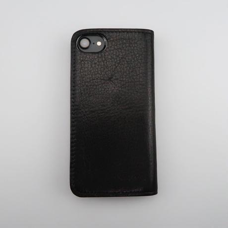 iPhone6,7,8対応ケース 牛革ソフトレザー <L126ブラック&グレー>