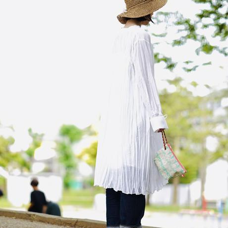 【MIKAMI】帆布ポーチ 大 Z143     ドットピンク
