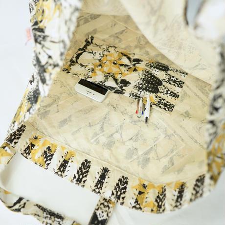【MIKAMI】帆布ショッピングバッグ Z140 ブラック&ゴールド
