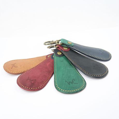 携帯用靴ベラ /本牛革ヴィンテージ調オイルレザー