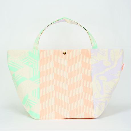 【MIKAMI】帆布パッチワークバッグ Z028 ピンク&グリーン&パープル