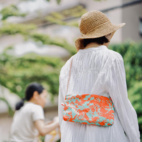 【MIKAMI】ナイロン サコッシュ Z111  ピンク&ネイビー