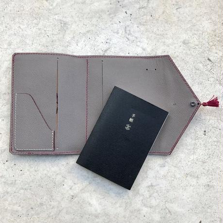 Letter - Leather Notebook cover-M /クリスタルビーズ&タッセル付き