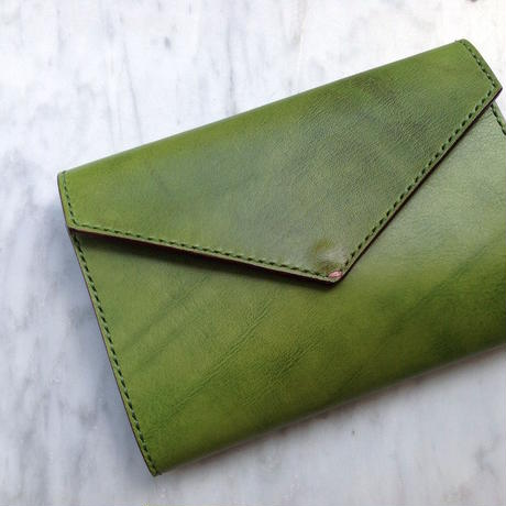 Letter - Leather Notebook cover-M / ほぼ日手帳(A6文庫本), MOLESKINE(Pocket)対応 / Olive