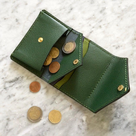Letter - Leather Pass case / Olive