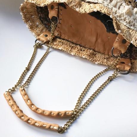 aimer ラフィアのクチュールカゴバッグ
