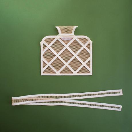 WINDOW CROSSBODY BAG -Gold