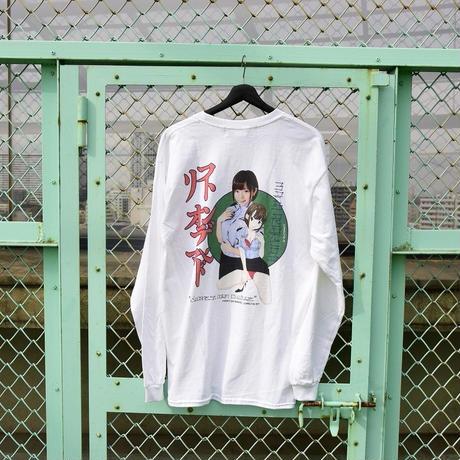 LONELY/論理 SAKURAMANA S.O.D. Long Sleeve T-shirt  -white-