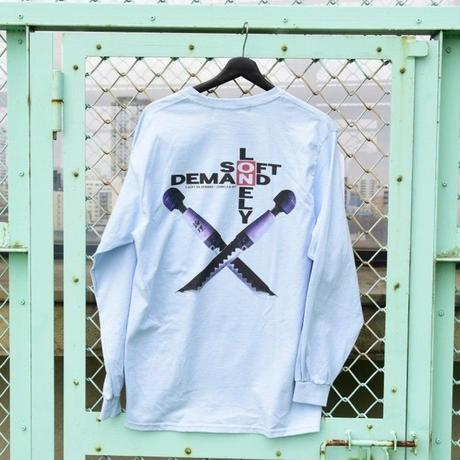 LONELY/論理 OTONA NO WEAPON Long Sleeve T-shirt -sax blue-