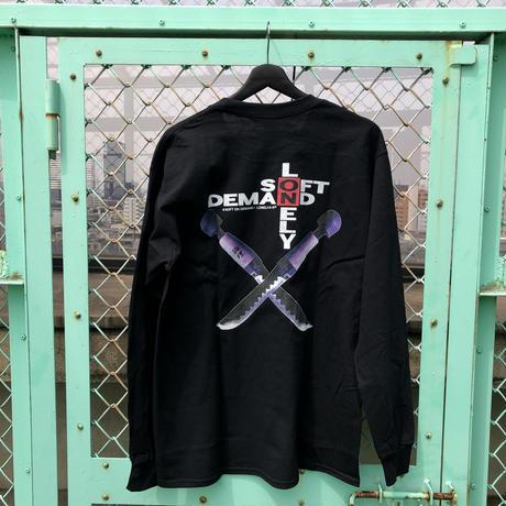 LONELY/論理 OTONA NO WEAPON Long Sleeve T-shirt -Black-
