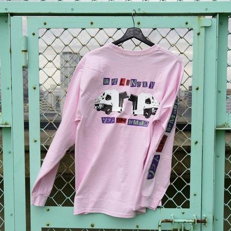 LONELY/論理 PRETTY MIRROR GOGO Long Sleeve T-shirt  -pink-